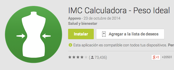 IMC Calculadora - Peso Oficial