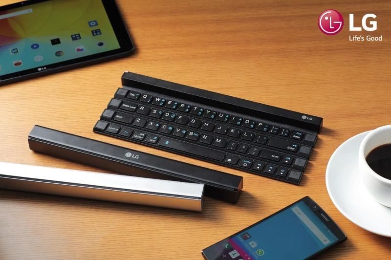 LG primer teclado enrollable inalámbrico